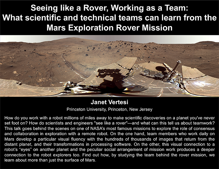 Plenary: Seeing like a Rover, Working as a Team:  What scientific and technical teams can learn from the Mars Exploration Rover Mission