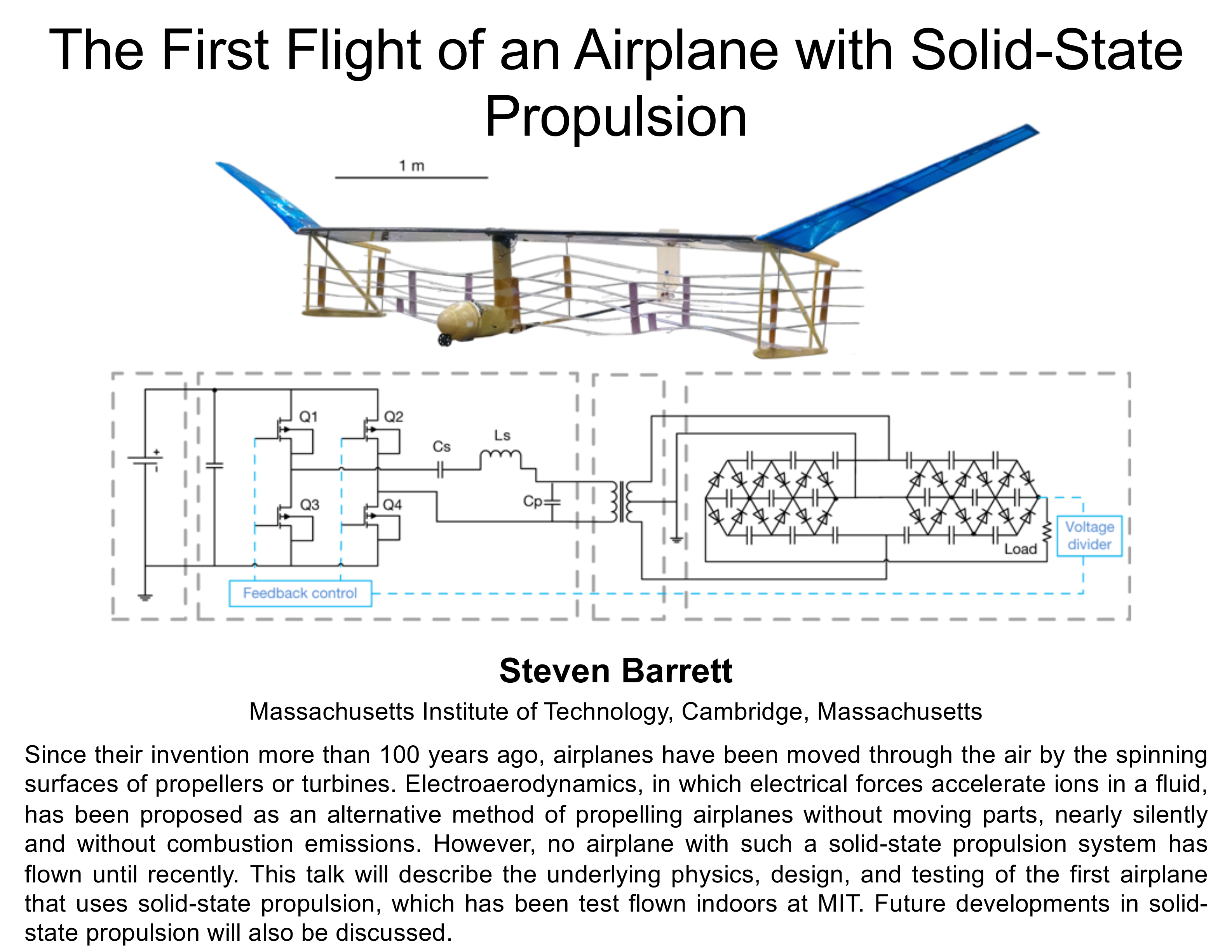 Plenary: The First Flight of an Airplane with Solid-State Propulsion